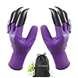 Gardening genie gloves with claws for digging and planting, you can dig and weed more easily and quickly without hand tools. whether you are digging a hole or rake a leaf, Hard ABS claws will keep your nails from breaking; Breathable design to keep t...