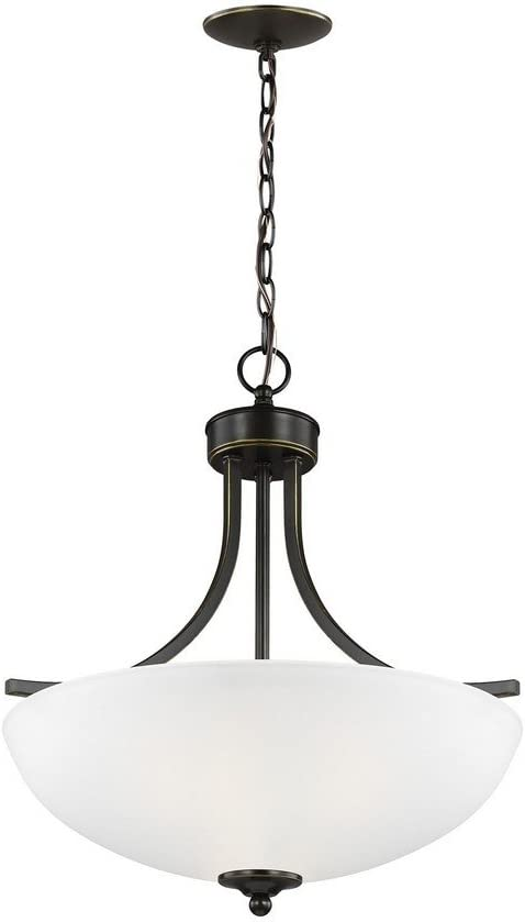 Sea Gull Lighting 6616503-782 Geary Pendant, 3-Light 300 Total Watts, Heirloom Bronze