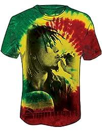Men's Rasta Smoke Tie Dye T-Shirt Tie-Dye