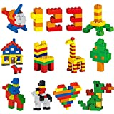DreambuilderToy Building Bricks 1000 Pieces, More Big Pieces, 10 popular colors, 80 roofs,10x20 pegs baseplate, Doors, Windows and Fences, Compatible to All Major brands