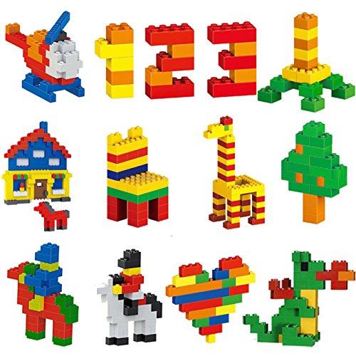 dreambuilderToy Building Bricks 1100 Pieces Set, 1000 Basic Building Blocks in 10 Popular Colors,100 Bonus Fun Shapes Includes Small Figures, Wheels, Doors, Windows, Compatible to All Major Brands