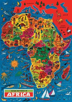 Africa Map Jigsaw Puzzle by James Hamilton Grovely: Amazon.co.uk