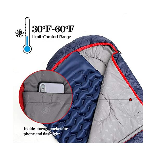 HUI LINGYANG Camping Sleeping Bag -Portable, Waterproof, Compact & Lightweight-Great for Outdoor,Traveling, Backpacking & Hiking 4