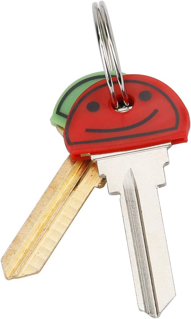 Uniclife 24 PCS Smiley Key Cap Covers in 8 Verschiedenen Farben f/ür Hausschl/üsseletiketten