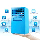 small air conditioner portable - Madoats 9.5-inch Super Mini Portable Air Conditioner Fan Small Desktop Fan Quiet Personal Table Fan Mini Evaporative Air Circulator Cooler Humidifier,Upgrade