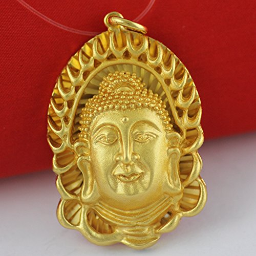 TKHNE 250 Buddhist prayer beads jewelry opening great day Tathagata natal Buddha necklace pendant for security and peace necklace pendant gold chain men Thailand