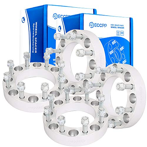 ECCPP 8x170 Wheel Spacers Adapters 8 lug 1.5 inch 8x170mm to 8x170mm 125 mm fits for Ford F250 F350 Excursion Powerstroke (Ford Dually Steel Wheel Spacers)