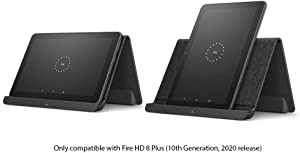 All New, Made for Amazon, Wireless Charging Dock for Amazon Fire HD 8 Plus (only compatible with Amazon Fire HD 8 PLUS)