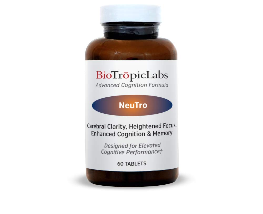 BioTrōpicLabs Neutrō - Nootropic Blend to Supercharge Your Brain Functions via Increasing Mental Clarity, Focus, Memory and Overall Mental Performance.