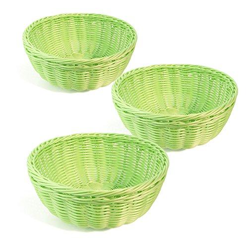 Colorbasket Hand Woven Waterproof Bowl Basket Lime Green