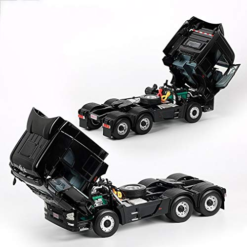 LIUFS-Alloy Car Children's Toy Liberation JH6 Traction Project Truck Static Simulation Alloy Car Model ( Color : Black ) by LIUFS-Alloy Car (Image #2)