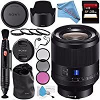 Sony Planar T FE 50mm f/1.4 ZA Lens SEL50F14Z + 72mm 3 Piece Filter Kit + 72mm Macro Close Up Kit + 256GB SDXC Card + Lens Pen Cleaner + Fibercloth + Lens Capkeeper + Deluxe Cleaning Kit Bundle