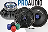 Soundstream SM.800PRO 8 Inch 200 Watts RMS Pro Audio MID-Range Speakers PAIR 4 Ohm (400W Max)