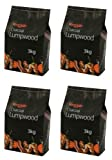 Holland Plastics Original Brand 4 X Bar Be Quick Lumpwood Charcoal Great For Everyday Barbecues 3Kg