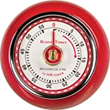 Fox Run Retro Kitchen Timer with Magnet, Red