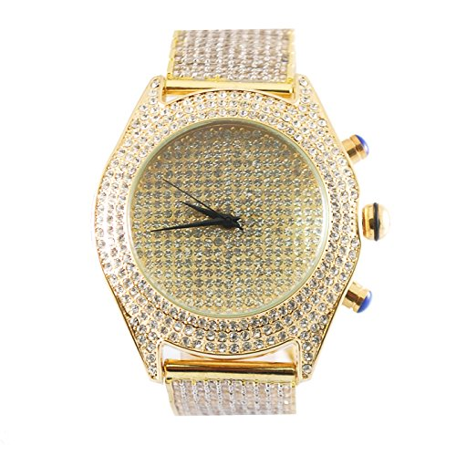 Iced Out Pave Techno Bling Master Jojino Gold Watch with Lab Diamond - Techno Watches Master