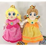 Super Mario Princess Peach Daisy Set of 2 pcs Soft Plush Figure Toy Anime Stuffed Animal Child Gift Doll by prozapoti