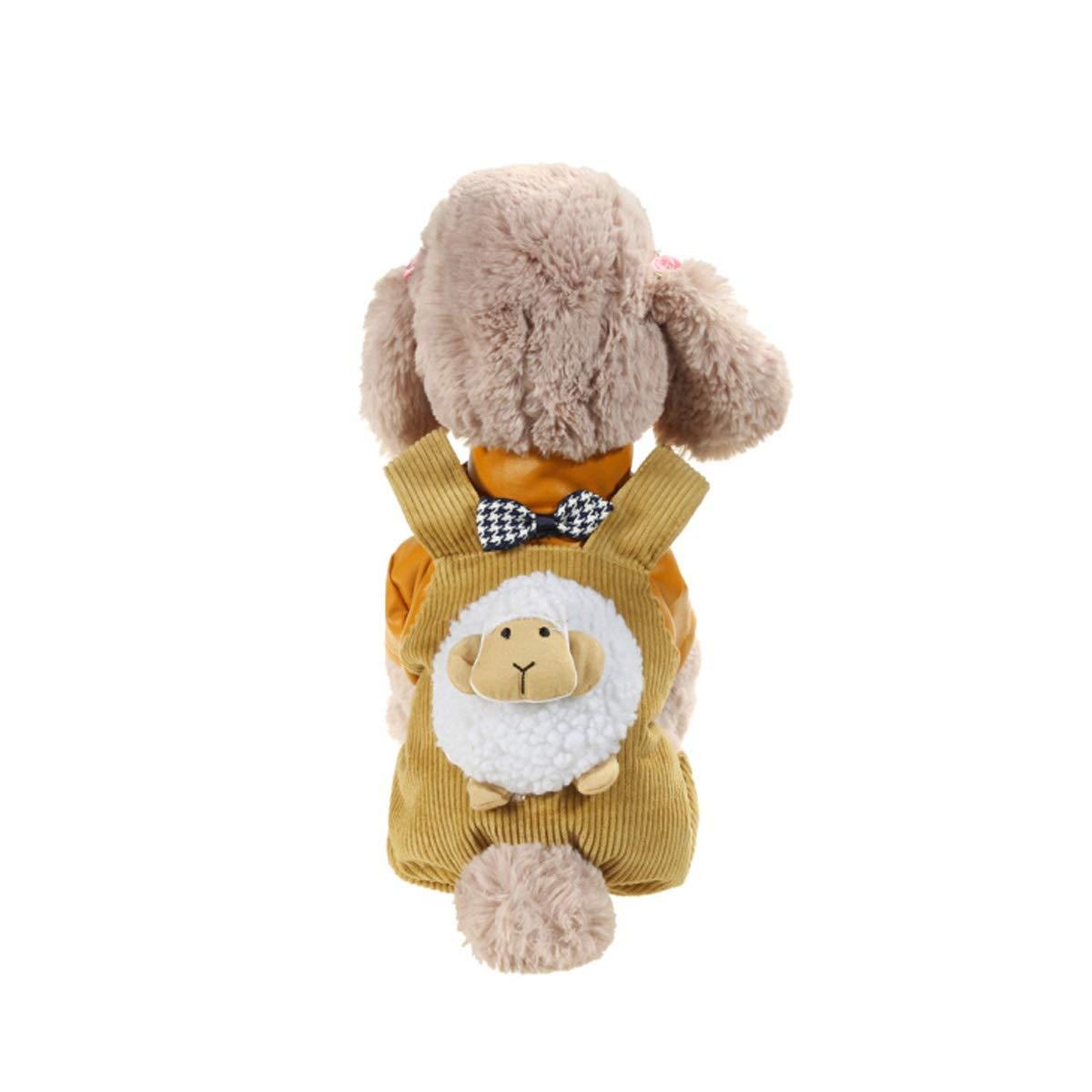 Khaki XL Khaki XL Guyuexuan Small and Medium-Sized Dog Pet Dog Clothes, Spring Four-Legged Clothes, Puppies Spring and Autumn Thin Section, Summer Teddy Bear Dog Princess, Bread Sheep Four-Legged Clothing Autumn