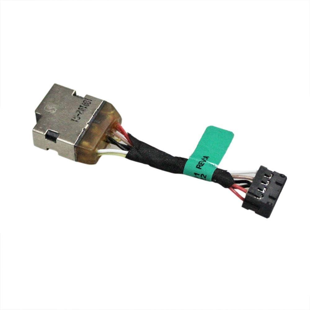 Gintai DC Power Jack Connecteur de Fil de Remplacement pour HP Pavilion 14-U 14-V 14-W 15-K 15-P 15-F Seires 730932-SD1 730932-FD1 730932-YD1 732067-001 5cm