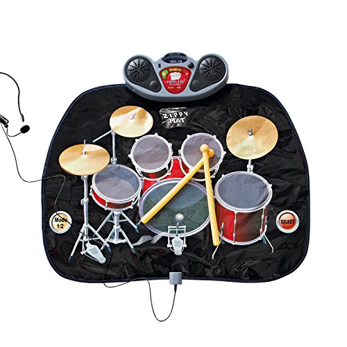 Global Gizmos Childs Drum Kit Playmat with MP3 by Global Gizmos