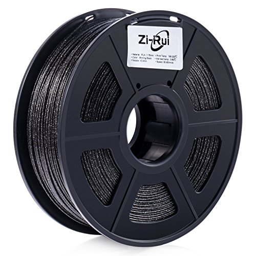 Zi-Rui Marble Color 3D Printer PLA Filament,Sparkly Black,1.75mm,Dimensional Accuracy+/- 0.03 mm, 2.2LBS.