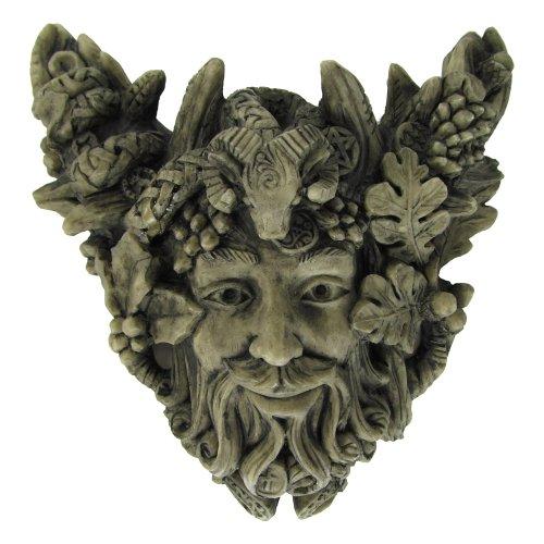 Dryad Design Small Celtic God Cernunnos Wall Plaque Stone Finish