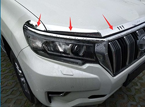 ABS Glossy Chrome Car front Hood cover trim for Toyota Land Cruiser Prado FJ150 2018 5pcs