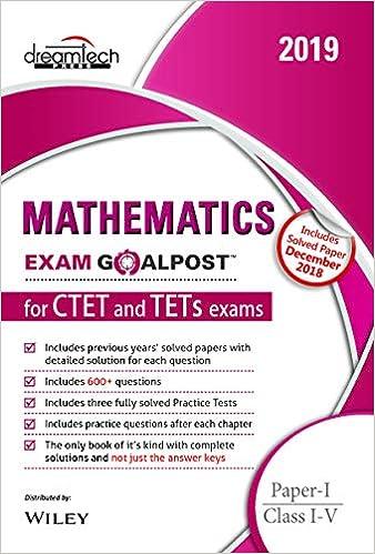 Buy Mathematics Exam Goalpost for CTET and TETs Exams, Paper