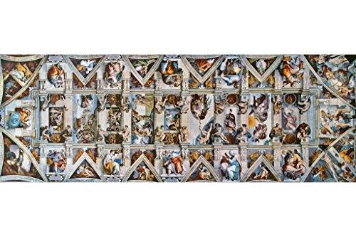 Michelangelo Sistine Chapel Ceiling Fine Art Panoramic Poster 36x12 inch (Chapel Sistine Adam)