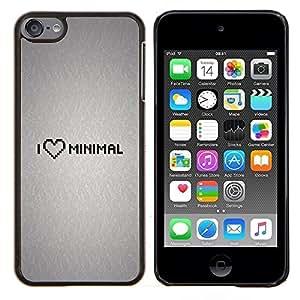 TECHCASE---Cubierta de la caja de protección para la piel dura ** Apple iPod Touch 6 6th Touch6 ** --Amo Mínimo