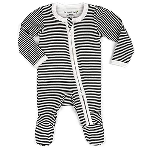 100% GOTS Organic Cotton Baby Boy Girl Sleep 'N Play Footed Onsie Unisex Pajamas