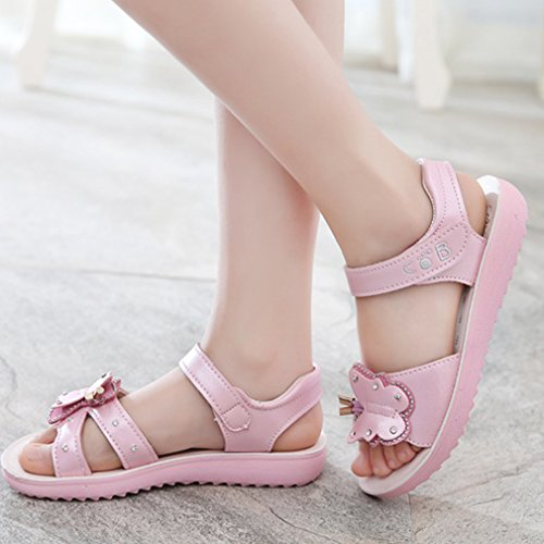 anbiwangluo Mädchen Sommer Sandalen Kinder Sommer Schmetterling Schuhe Rosa