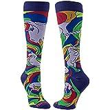 BitSox Women's Unicorn Knee High Socks (Purple, Large)