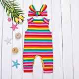 Infant Baby Girl Summer Rainbow Stripe One Piece