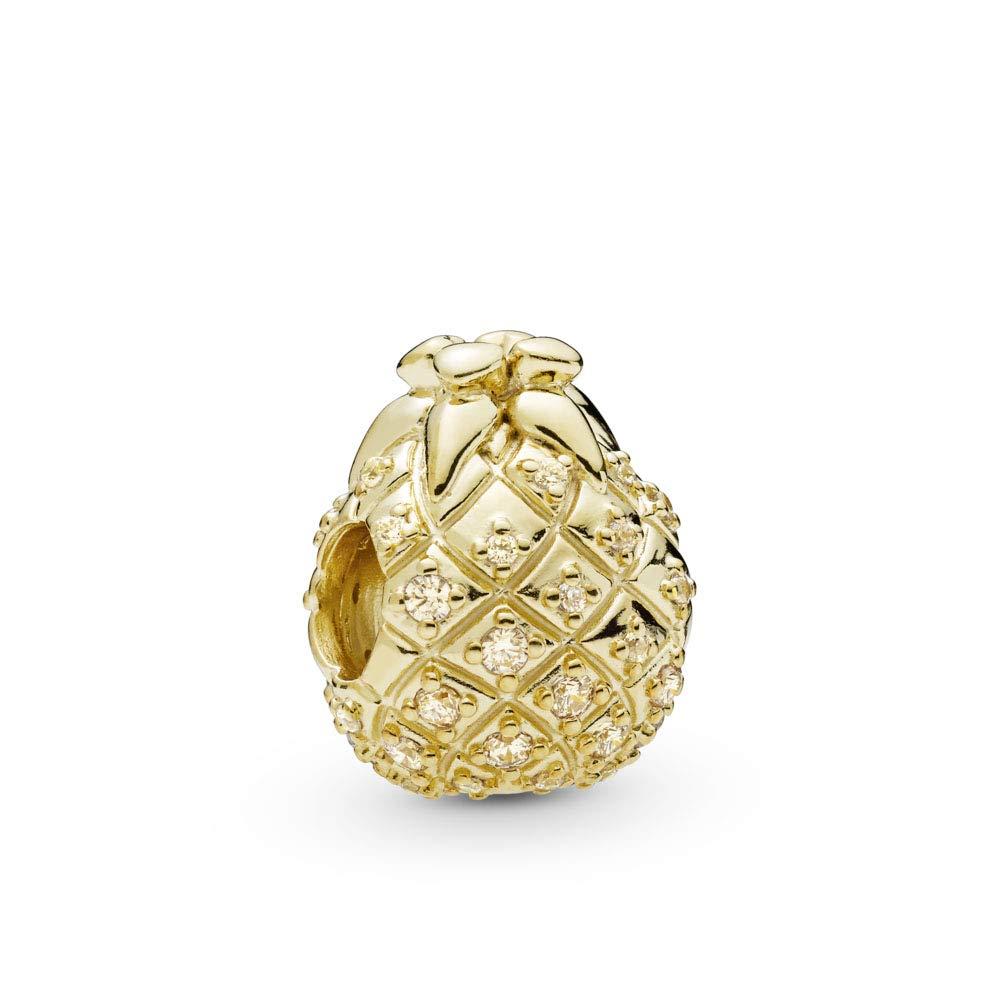 PANDORA Golden Pineapple 18k Gold Plated PANDORA Shine Collection Charm - 767904CCZ