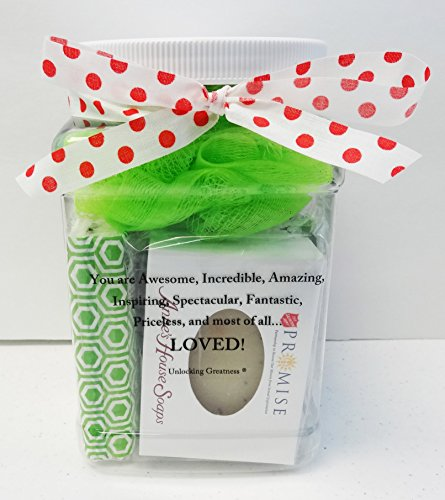 Unlocking Greatness You Are Loved Charity Gift Baskets: Half Gallon Beauty Spa and Tea Treatment