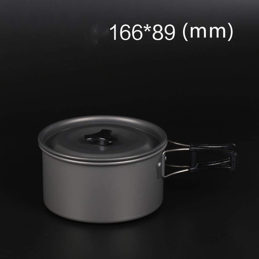Medium Alumina Single Pot  HTLPDG De Cuisine extérieure,casseroles de Pliantes, Haute qualité, Batterie de Cuisine de Camping portable,en Aluminium extérieure Pliable Camping casseroles Cuisson portable sac à dosing théiè