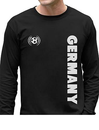 7e2a56d5c57 Germany National Football Team Deutschland Soccer Fans Long Sleeve T-Shirt  Small Black