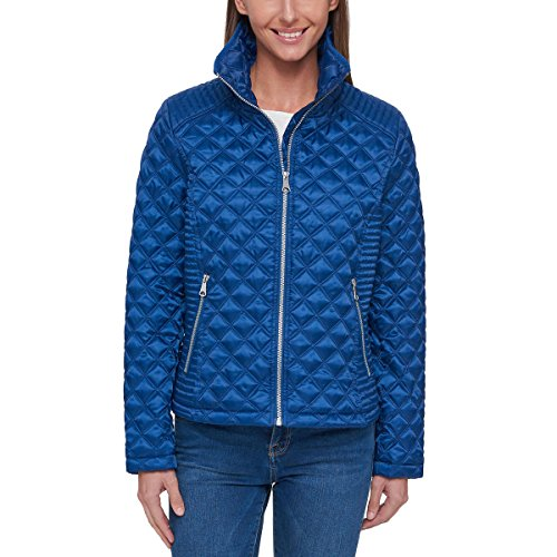 Marc New York Quilted Coat - Marc New York Ladies' Quilted Jacket (Blue, Large)