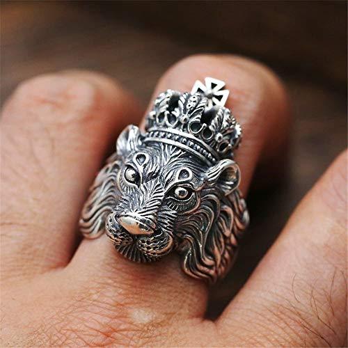Punk Lion Finger Ring | Stainless Steel Rings | Vintage Animal Wedding Jewelry | for Men and Women