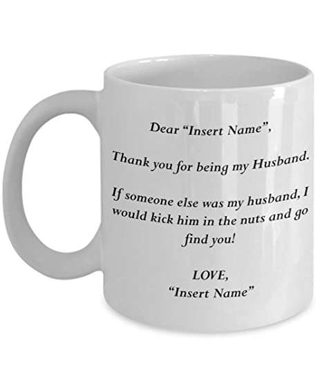 1f35fec7c1e MyFaveGift Custom Name Personalized Gifts For Husband Funny Coffee Mugs For  Him Gift For Birthday Anniversary