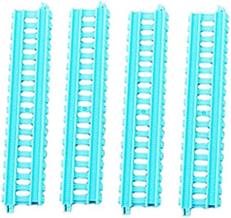 Replacement Parts for Thomas The Train - FXX69  Thomas & Friends Trackmaster Builder Bucket  Replacement S1 Teal Track Pieces  Package of 4 Train Tracks