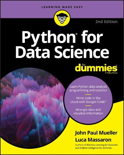Python for Data Science For Dummies, 2nd Edition Front Cover