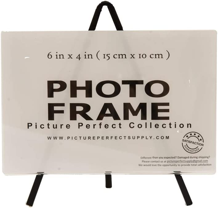 Photo Booth Frames 6x4 Inch Clear Acrylic Picture Frame with Stand Set 6 x 4 Self Standing Picture Frame 12 Pack, Clear