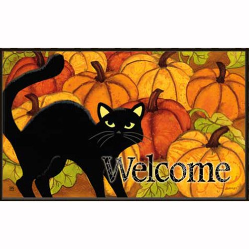 UPC 843259036617, Pumpkin Patch Cat Doormat by MatMates