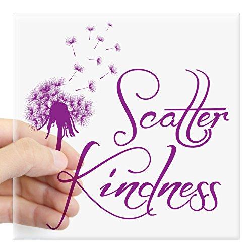 Sticker Compassion - CafePress Scatter Kindness Sticker Square Bumper Sticker Car Decal, 3
