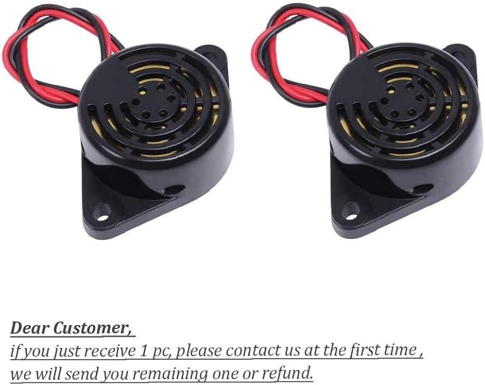 Sanfiyya Buzzer Alarm DC3-24V Attivo Piezo Elettronica Buzzer Beep Sirena Continua con Cavo