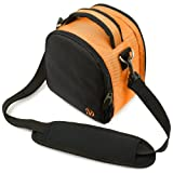 Laurel Compact Edition Nylon Orange DSLR Camera Carrying Handbag with Removable Shoulder Strap for Canon EOS DSLR Camera Model EOS-600D / EOS Rebel T3i / EOS Kiss X5 / EOS-1100D EOS Rebel T3 / EOS Kiss X50 / EOS 550D / EOS Rebel T2i / EOS Kiss X4 / EOS 500D / EOS Rebel T1i / EOS Kiss X3 / Canon EOS 1000D / EOS Rebel XS / Kiss F Digital, Best Gadgets