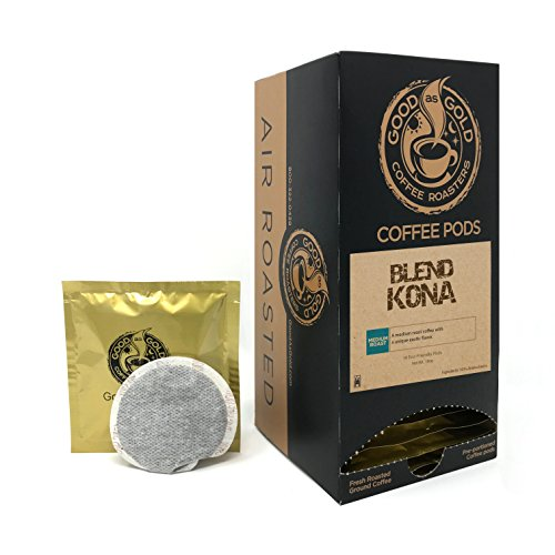 Good As Gold KONA BLEND COFFEE PODS Coffee - (1 Box/18 Coffee Pods) ()
