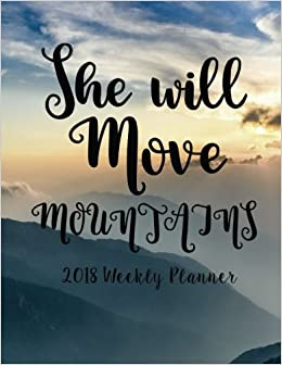 Amazon com: 2018 Weekly Planner: Inspirational Weekly Daily Monthly